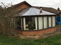 Large Hard Wood Conservatory