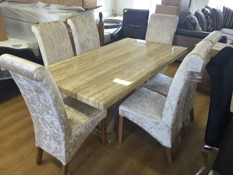 dining room furniture gumtree belfast. new*** stunning marble dining table and 6 crushed velvet chairs --- room furniture gumtree belfast