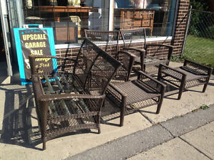 ★5  PCE RESIN / WICKER OUTDOOR SET ★ ONLY $95