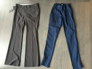 size 8 pants $40 for both - aritzia & h&m