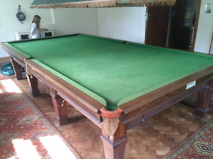 Antique Snooker-Billiard Table