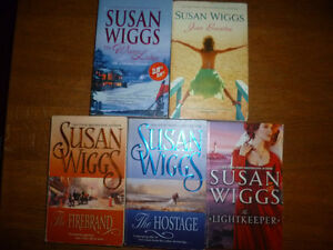 Lot of 5 SUSAN WIGGS Paperback Novels (used)