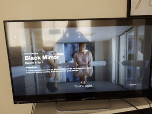 """MOVING SALE URGENT -Haier 49"""" 1080P 60hz LED TV - ALMOST NEW!"""