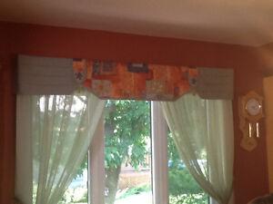 Têtes de rideaux - Voilage de fenêtre et Porte patio
