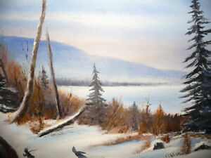 """Winter Trail"" Original Oil by S. Irsag Stratford Kitchener Area image 7"
