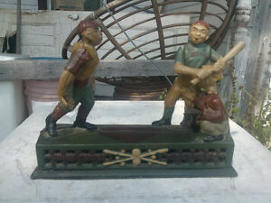 Old coin bank cast