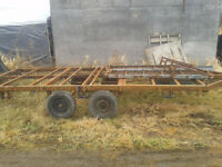 Project flatbed trailer with ramps firm price 80 x 15 feet
