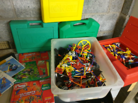 Large amount of knex plus boxes and instructions