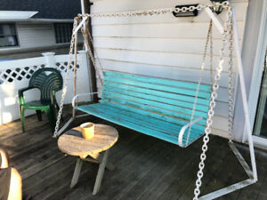 Bench swing and table!