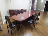 Full Dining Set with Table, 6 Chairs, Buffet and Coffee Table