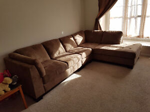 3 Piece Cocoa Sectional