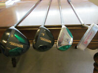 Warrior Clubs - Driver, 5 wood, 3 hybrid and putter, never used