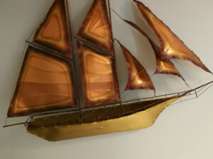 BRASS AND COPPER SAILING SHIP