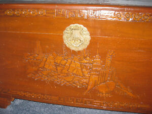 "Antique Camphor Wood Asian Chest 41"" x 21"" x 23"" Kitchener / Waterloo Kitchener Area image 2"