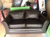 2 seater brown colour original Leather sofa