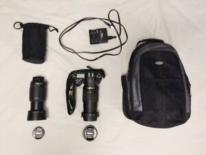 Nikon D7000 in Great Condition + 2 Lenses and Backpack