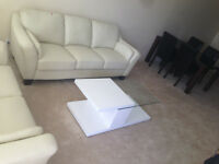 White Glass Coffee Table - $100