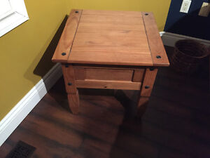 Rustic pine end tables