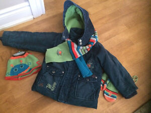 Souris Mini sz 24mths fall/winter jacket w/ Accessories