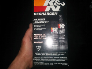 K&N filter cleaner and recharge kit
