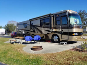 Monaco Windsor 42' DST Motorhome and 2012 Chevy Sonic LTZ toad.