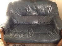 Full Set Leather Sofas - 3, 2 and 1 seater