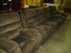 3 SEATER + 2 SINGLE RECLINERS IN CHOC VELVET SUEDE 4 ELECTRIC REC Thebarton West Torrens Area Preview