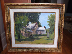 HUILE LA MAISON BROSSARD GASTON POULIN OIL PAINTING