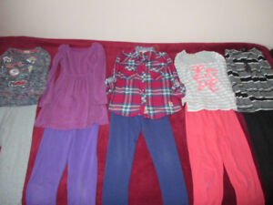 GIRLS LONG SLEEVE SHIRTS, PANTS, HOODIES-SIZE 6/7