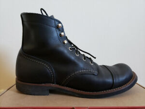 Red Wing - Iron Rangers - Black. Size 9US. Genuine Leather.