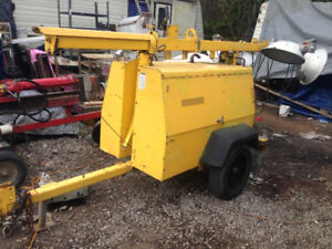 8KW Generator perkins diesel 120-240volt on trailer 1900hrs