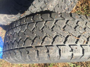 4 mounted 245/70/16 tires