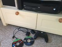 Xbox one with 2 games and controller