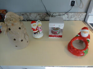 Christmas Ornaments, Disney Snow Globe, Candle holder & More
