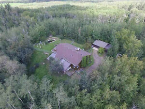 SHERWOOD PARK 9.12 ACRES TREED PRIVATE ONE OF KIND AMAZING HOME!