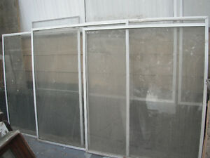 Used Window panes with frames
