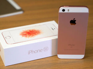 iPhone SE, Rose Gold, 16 GB, Like New, with Apple Care Plus.