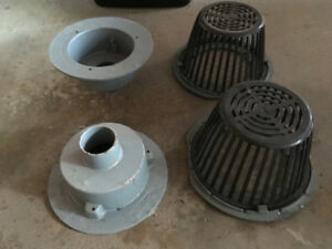 Flat Roof Drains with Baskets - Roofing, Construction