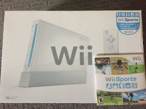 Wii console and controllers