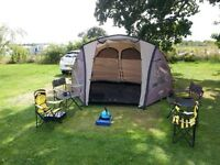5 man tent and camping stove