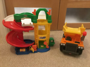 Fisher Price Garage and dump truck