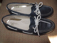 Navy Leather Deck Shoes