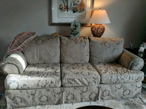 Couch and chair plus ottoman.