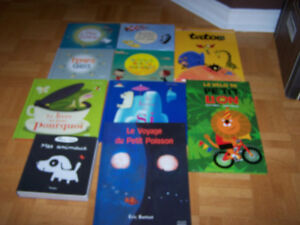10 childrens FRENCH hardcover books