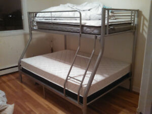 AWESOME BUNK BED!!-  NEW Double Mattress,  Single Top  $360 OBO
