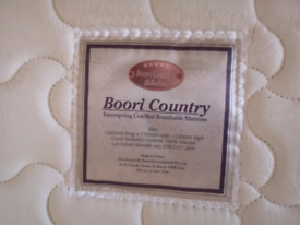 Boori country sleigh cot bed and drawer