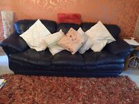 Leather sofa etc