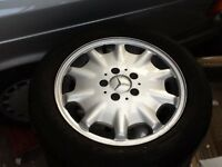 Mercedes E class alloy wheels with matching tyres