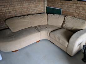 Beige corner sofa