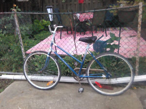 """Female single speed bike with  19"""" frame, and 26"""" tires"""
